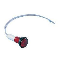 EMAS ► Сигнальная арматура Ø 10мм c красным светодиодом 24 В и силиконовым кабелем – Артикул: S100L2K