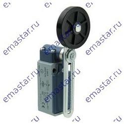 EMAS ► Выключатель концевой быстрого переключения угловой 2-х направленный с металлической консолью и резиновым роликом Ø50мм на