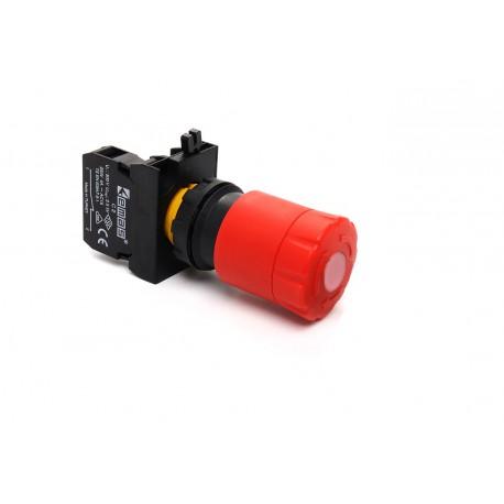EMAS ► Кнопка аварийная с подсветкой Ø30мм (1НЗ) – Артикул: CP200ES30