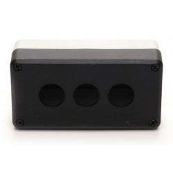 Кнопочный пост пластиковый пуcтой 3-х кнопочный IP65