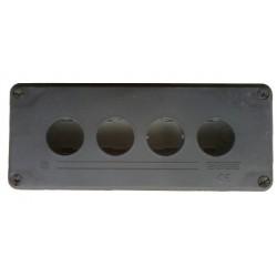 Кнопочный пост пластиковый пуcтой 4-х кнопочный IP65