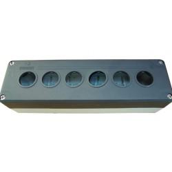 Кнопочный пост пластиковый пуcтой 6-ти кнопочный IP65