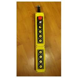 Пульт управления тельфером десятикнопочный с ключом и кнопкой аварийной остановки