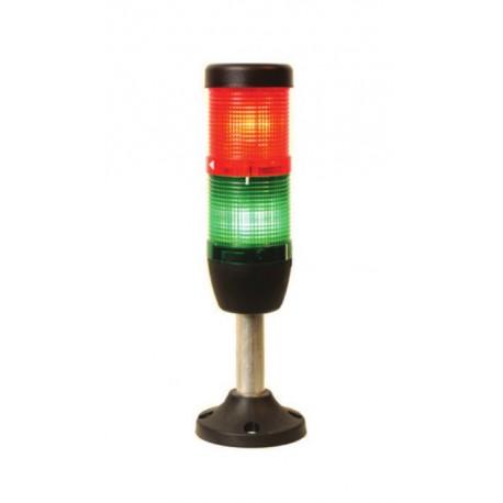EMAS ► Сигнальная колонна Ø50 мм. Красная, зеленая 24 V DC, светодиод LED - Артикул: IK52L024XM03