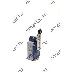 EMAS ► Выключатель концевой быстрого переключения угловой 2-направленный с пластмассовой консолью, роликом Ø18мм на коротком рег