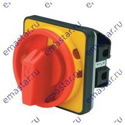 EMAS - Переключатель двухпозиционный аварийного типа двухфазный (0-1) 10А