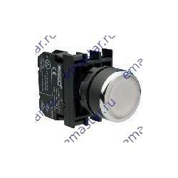 EMAS - Кнопка с фиксацией белая B202FB (2НЗ)