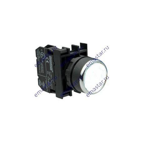 EMAS - Кнопка с фиксацией белая B100FB (1НО)