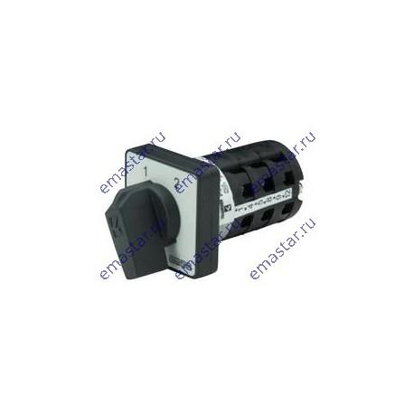 Переключатель полюсов реверс. двухфазный (1-2) 10А