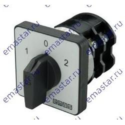Переключатель полюсов реверс. двухфазный (1-0-2) 16А