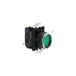Кнопка с фиксацией зеленая B102FY (1НО+1НЗ)