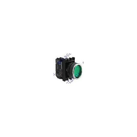 EMAS - Кнопка с фиксацией зеленая B102FY (1НО+1НЗ)