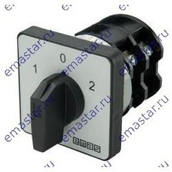 Переключатель полюсов реверс. трехфазный (1-0-2) 10А
