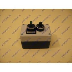 Пост управления с потенциометром, переключателем на 3 позиции с фиксацией, со светодиодной подсветкой 24 AC/DC