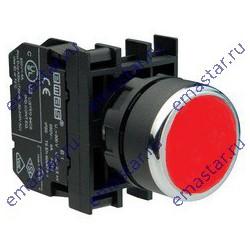 Кнопка с фиксацией подсветкой-светодиод красная B260FК (1НЗ)