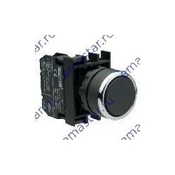 Кнопка с фиксацией черная B101FH (2НО)