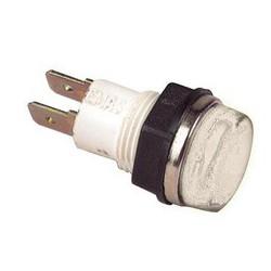 Сигнальная арматура 14мм белая с лампой 220В
