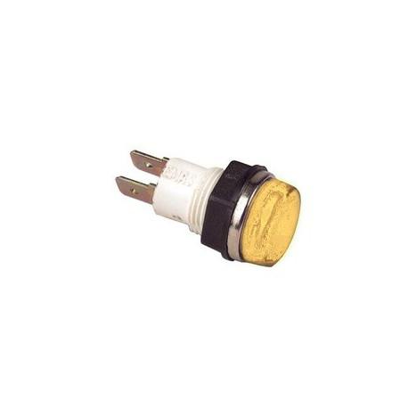 Сигнальная арматура 14мм желтая с лампой 220В