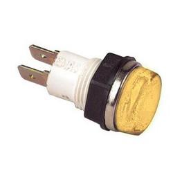 Сигнальная арматура 14мм желтая с лампой 24В