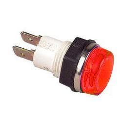 Сигнальная арматура 14мм красная с лампой 220В