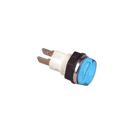 Сигнальная арматура 14мм синяя с лампой 24В