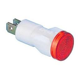 Арматура сигнальная 14мм красная с лампой 220В