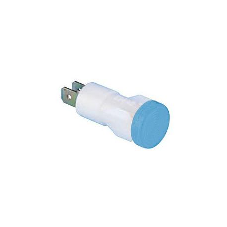 Арматура сигнальная 14мм синяя с лампой 220В