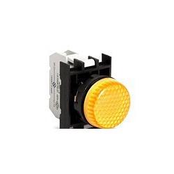 Арматура сигнальная желтая со светодиодом 100-200 В переменного тока