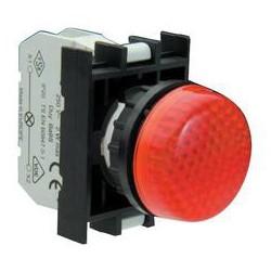 Арматура сигнальная красная со светодиодом 12-30 В переменного и постоянного тока