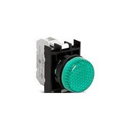 Арматура сигнальная зеленая со светодиодом 12-30 В переменного и постоянного тока