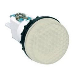 Арматура сигнальная белая 22мм (под лампу с резьбой Ba9S) 220B