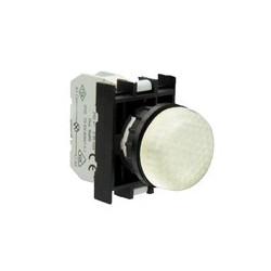 Арматура сигнальная белая со светодиодом 12-30 В переменного и постоянного тока