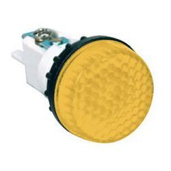 Арматура сигнальная желтая 22мм (под лампу с резьбой Ba9S) 220B