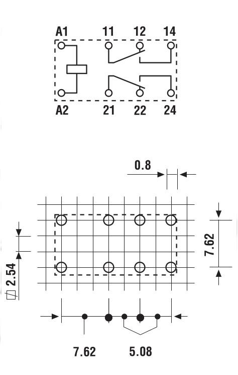 Схема контактов реле Финдер 30 серии