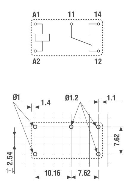 Finder - Схема субминиатюрных PCB реле 6А - 32 серии