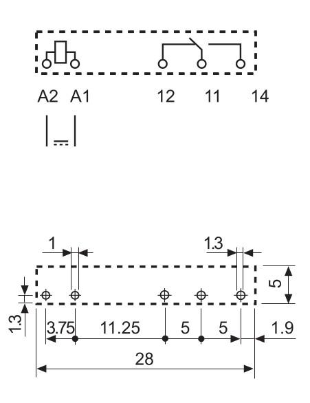 Схема ультратонкого реле Finder - 34 серии