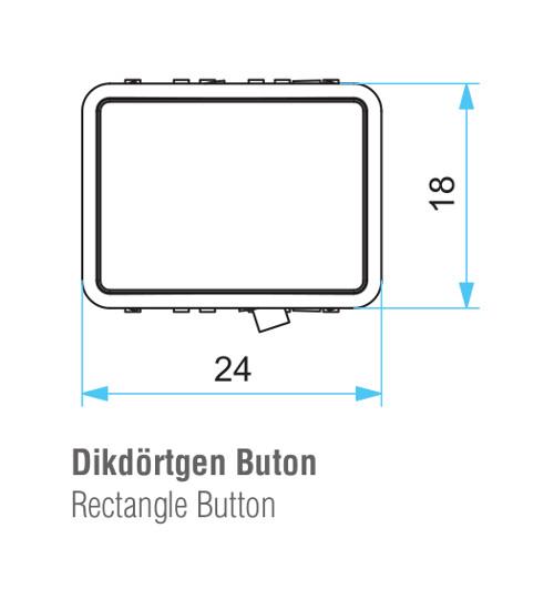 EMAS – Габаритные размеры корпуса кнопки D050DDB