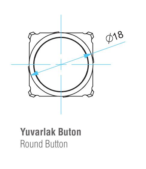 EMAS – Габаритные размеры головки кнопки D100YDM