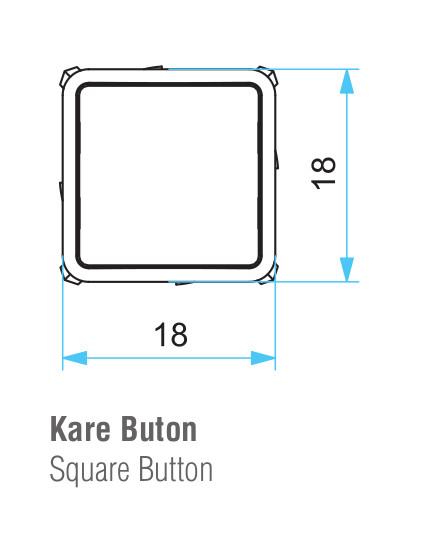 EMAS – Габаритные размеры головки кнопки D101KDH