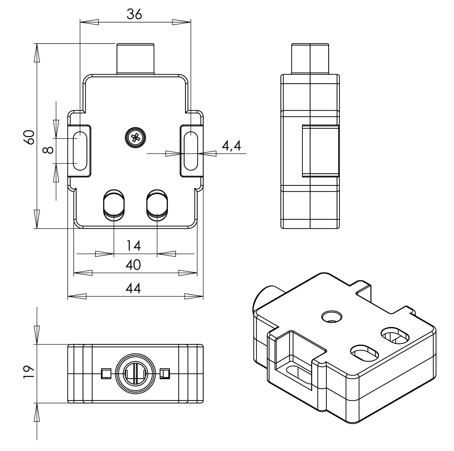 Габаритная схема выключателя Z71
