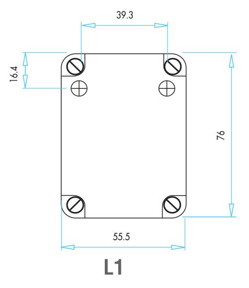 EMAS - Габаритные размеры концевого выключателя серии L1