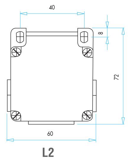 EMAS - Габаритные размеры концевого выключателя серии L2