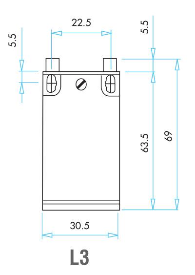 EMAS - Габаритные размеры концевого выключателя серии L3