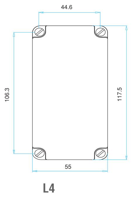 EMAS – Габаритные размеры корпуса концевого выключателя серии L4