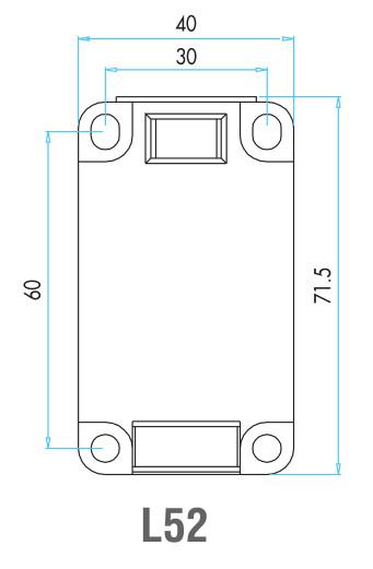 EMAS - Габаритные размеры концевого выключателя серии L52