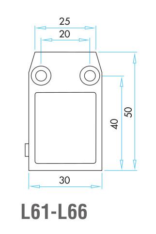 EMAS - Габаритные размеры концевого выключателя серии L6