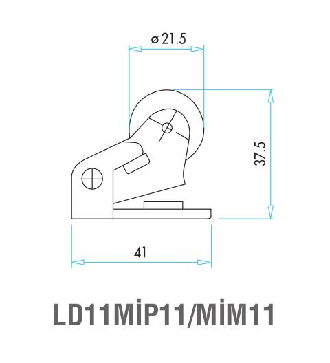 EMAS – Габаритные размеры ролика концевого выключателя L4K16MIM11