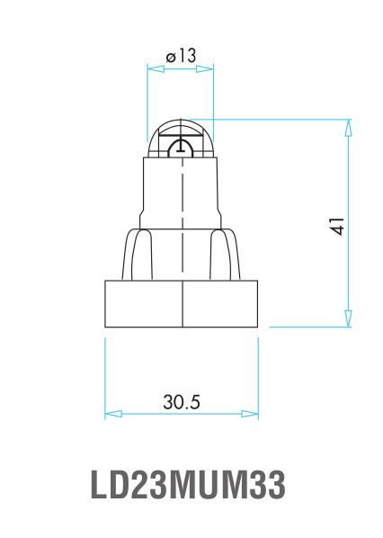 EMAS – Габаритные размеры ролика концевого выключателя L4K16MUM33