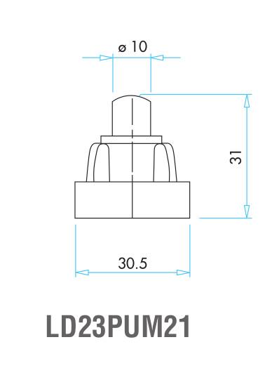 EMAS – Габаритные размеры наконечника концевого выключателя L4K16PUM21