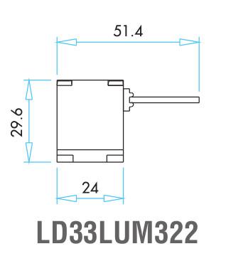 EMAS – Габаритные размеры наконечника концевого выключателя L52K13LUM322